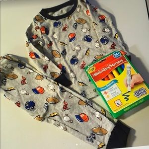 Carter's 18 m pj set & washable markers New